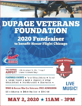 Click for complete information about the Honor Flight fund raiser on May 2, 2020
